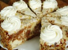 Carrot Cake Cheesecake  Had a piece of this at Gangster's Grille yesterday after a scrumptious menu special of Scalloped Potatoes & Ham - can't wait to try this recipe!!! Hope it's as yummy as theirs!