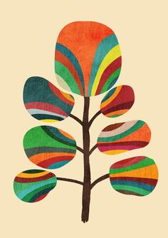 Exotica Art Print by Budi Kwan. An exotic, whimsical tree made or organic abstract shapes. Art And Illustration, Art Design, Artwork Design, Graphic Artwork, Art Inspo, Framed Art Prints, Canvas Prints, Framed Wall, Stoff Design