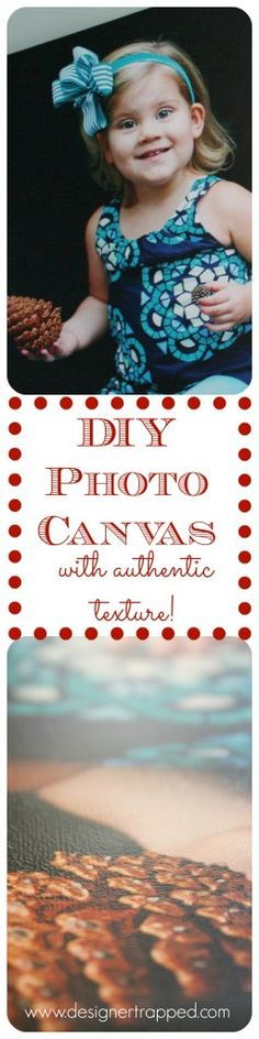 DIY Photo Canvas Tutorial {with a secret tip to create REAL canvas texture}! - Designer Trapped in a Lawyer's Body