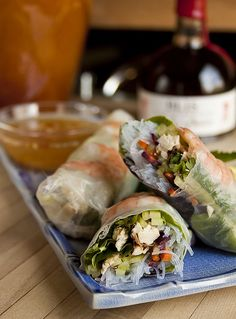 Southeast Asian Spring Rolls with Nuoc Cham