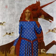 Единорог, 2005, 100х100, холст, масло, серебро Unicorn, 2005, 100x100, oil on canvas, silver #andreyremnev #unicorn #painting