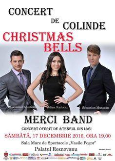 """Concertul de colinde """"Christmas Bells – Merci Band"""" va avea loc la Palatul Roznovanu"""