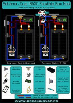 motley mods box mod wiring diagrams,led button,switch parallel led tube wiring diagram sch�ma box mod dual 18650 parallele