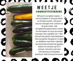 Stoomoven weetje: courgetteterrine