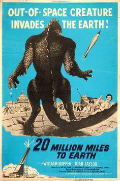 20 Million Miles to Earth (1957) http://scififilmfiesta.blogspot.com.au/2015/12/20-million-miles-to-earth-1957.html