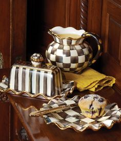 Irresistibly Courtly Check! The fluted pitcher (comes in Parchment Check too) is one of my favorites!