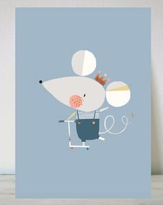 British design for kids and grown ups! on Corby Tindersticks Cute Animal Illustration, Children's Book Illustration, Art Wall Kids, Nursery Wall Art, Cute Rats, Cute Mouse, Cute Characters, Baby Design, Animals For Kids