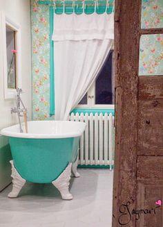 Bathroom ♥ Bathroom Toilets, Bathrooms, Clawfoot Bathtub, Home, Bathroom, Full Bath, Ad Home, Homes, Bath