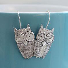 Cute owl earrings.