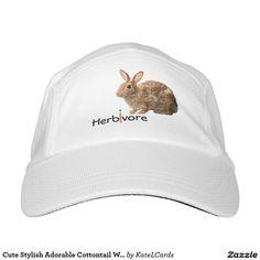 Cute Stylish Adorable Cottontail Wild Bunny Rabbit Headsweats Hat