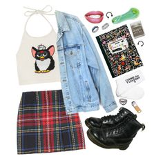 A fashion look from November 2013 featuring Levi's jackets, Opening Ceremony mini skirts and Dr. Martens boots. Browse and shop related looks.