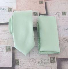 Mens Tie. JCrew Inspired Dusty Shale Green Skinny by TieObsessed