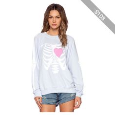 Wildfox Couture My Beating Heart Kims Sweater