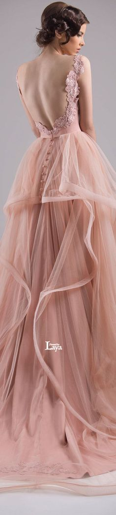 ♔LAYA♔CHRYSTELLE ATALLAH S/S 2015 COUTURE♔ | blush wedding