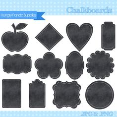 Chalkboard frames, chalkboard label, chalkboard digital clipart, frames clipart, Chalkboard Chalkboard Frames, Chalkboard Labels, Clip Art Pictures, Frame Clipart, Digital, Unique Jewelry, Handmade Gifts, Diy, Vintage