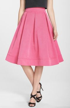 Pleated Faille Midi Skirt from Nordstrom Perfect A For Spring/Summer Chic Outfit.