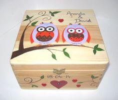 XLarge Wedding Memory Box Wedding Keepsake Box by funkyforesthome