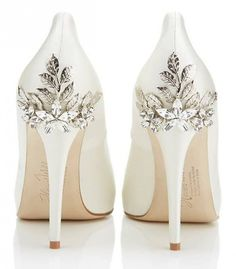 Let's be honest. I'm not likely to wear heels on my wedding day, but these are gorgeous!