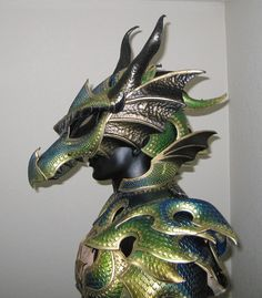 Green Dragon Armor by *Azmal on deviantART
