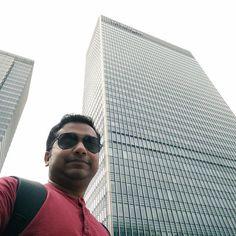 The JPMorgan Chase building at morning.  #Canarywharf #JPMorganchase #Desiguy #Foriegntrip #Canary #Wharf #RiverThames #London #Britain #British #greatbritain #unitedkingdom #Selfie #NoFilters by dani3lvaz