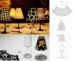 Here is a super cute idea to make some elegant and stylish wine glass candle lampshades. They easily transform wine glasses into romantic and decorative little candlelit lamps, which are unique table decor and great for a romantic dinner. You can choose different colors and patterns of vellum paper to …