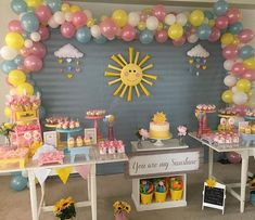 Birthday Cake Sprinkles Ideas For 2019 Sunshine Birthday Parties, First Birthday Party Themes, Baby Girl 1st Birthday, Birthday Decorations, Birthday Ideas, Cake Birthday, Deco Orange, Sunshine Baby Showers, Girls Party
