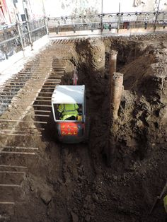 Excavating for the basement