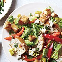 Greek Chicken Bread Salad | MyRecipes.com