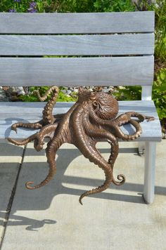 Bronze octopus for the University of Alaska Fairbanks School of Fisheries and Ocean Sciences.