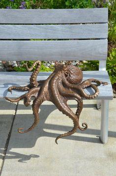 Bronze octopus for the University of Alaska Fairbanks School of Fisheries and Ocean Sciences.