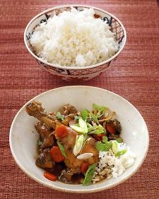 Soy-Ginger Chicken, slow cooker recipe from martha stewart #soy #ginger #chicken #slow #cooker #asian #crock #pot #lunch #dinner