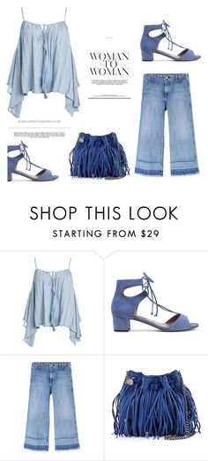 """""""♥"""" by macopa ❤ liked on Polyvore featuring Sans Souci, Tabitha Simmons, Current/Elliott, STELLA McCARTNEY and Whiteley"""