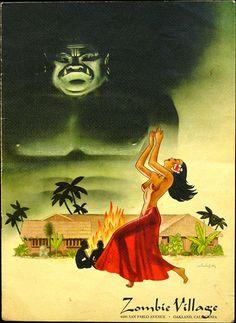 heardsmith-inner-space: menu cover of 1950s Tiki-themed restaurant in California
