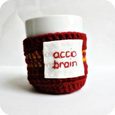handmade mug warmers - accio brain!