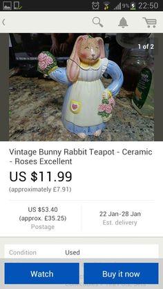 Vintage easter teapot