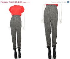 20% OFF Vtg 90s Tan Black Minimal Striped High Waist Pants Leggings L XL by theindustry on Etsy https://www.etsy.com/listing/185946926/20-off-vtg-90s-tan-black-minimal-striped