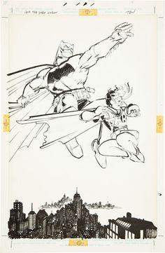 Art from Dark Knight Returns by Frank Miller and Klaus Janson