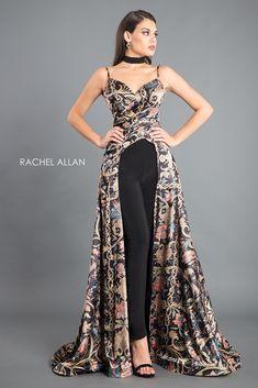 Rachel Allan 8319 Floral Print Jumpsuit in 2019 Classy Outfits, Chic Outfits, Evening Dresses, Prom Dresses, Formal Dresses, Couture Dresses, Fashion Dresses, Jumpsuit Dress, Designer Dresses