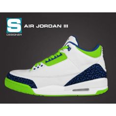 a972176bb6f3 Air Jordan 3, Seattle Seahawks, Cleats, Sneakers Nike, Jordans, Football  Boots, Nike Tennis, Cleats Shoes, Nike Basketball Shoes