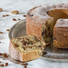 Bundt cake filled with walnuts and raisins - an Austrian Easter tradition