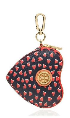 Valentine's Day Gifts: Tory Burch Kerrington Heart Zip Key Fob