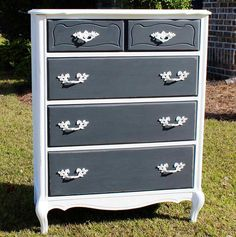 Beautiful French Provincial Chest of Drawers by Lulubelle's Furniture & Finds @Dawn Kutchey