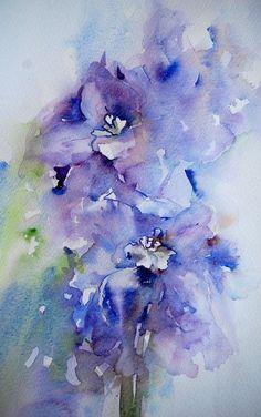 Watercolor art by Jean Haines (2) - Xaxor