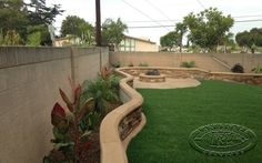 landscape 2 foot stucco fence - Google Search