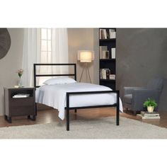 Mainstays Twin Parsons Bed, Black