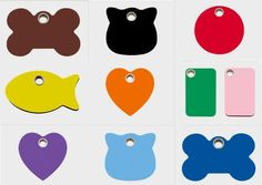 ENGRAVED DOG TAGS Plastic 10 colors! Personalized Pet Cat ID Custom Tag Charm in Pet Supplies, Dog Supplies, Tags & Charms | eBay
