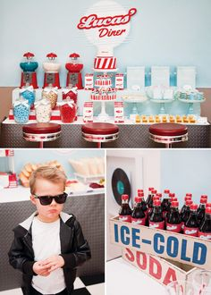 This may be the coolest #kids #birthday #party ever!!!  Recreate a fifties-diner #theme.  #boy  ©White Spark Photography feature on Hostess with the Mostess