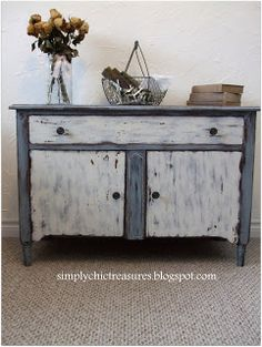 simply chic treasures: Cupboard Painted With Old Fashioned Milk Paint