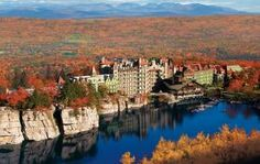 Where's a great country getaway close to New York City?: Fall is the most beautiful season at Mohonk Mountain House.