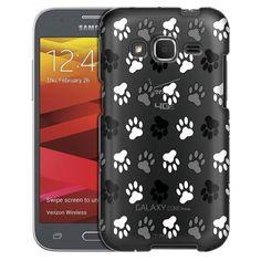 Samsung Galaxy Core Prime Black Paw Pattern Case